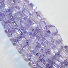 jssw0034k-kub1-06x6 apie 6 x 6 mm, kubo forma, skaidrus, šviesi, violetinė spalva, apie 100 vnt.