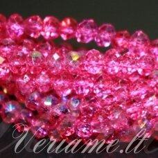 jssw0035gel-ron-04x6 apie 4 x 6 mm, rondelės forma, skaidrus, rožinė spalva, apie 100 vnt.