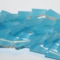 jssw0039gel-kug-12x6 about 12 x 6 mm, taper shape, faceted, matte, light blue color, about 50 pcs.