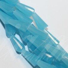 jssw0043gel-kug-12x6 about 12 x 6 mm, taper shape, faceted, light blue color, about 50 pcs.