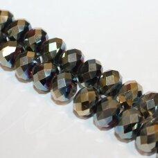 jssw0234gel-ron-09x12 apie 9 x 12 mm, rondelės forma, chaki spalva, ab danga, apie 72 vnt.