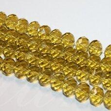 jssw0005k-ron-08x10 apie 8 x 10 mm, rondelės forma, briaunuotas, geltona spalva, apie 72 vnt.