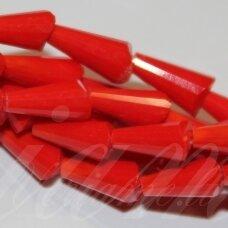 jssw0071k-kug-08x4 apie 8 x 4 mm, kūgio forma, briaunuotas, raudona spalva, apie 72 vnt.