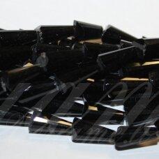 jssw0073gel-kug-08x4 apie 8 x 4 mm, kūgio forma, briaunuotas, juoda spalva, stikliniai / kristalo karoliukai, apie 72 vnt.