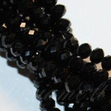 JSSW0073GEL-RON-02x3 apie 2 x 3 mm, rondelės forma, juoda spalva, apie 200 vnt.