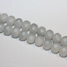 jssw0187gel-ron-08x10 apie 8 x 10 mm, rondelės forma, matinė, pilka spalva, apie 72 vnt.