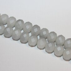 jssw0187gel-ron-06x8 apie 6 x 8 mm, rondelės forma, matinė, pilka spalva, apie 72 vnt.