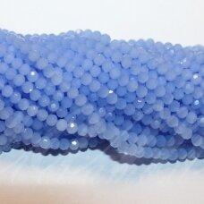 JSSW0131-APV-04 apie 4 mm, apvali forma, briaunuotas, matinis, šviesi mėlyna spalva, apie 100 vnt.