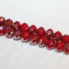 jssw0095gel-ron-09x12 apie 9 x 12 mm, rondelės forma, raudona spalva, ab danga, stikliniai / kristalo karoliukai, apie 70 vnt.