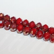 jssw0095gel-ron-08x10 apie 8 x 10 mm, rondelės forma, raudona spalva, ab danga, apie 72 vnt.