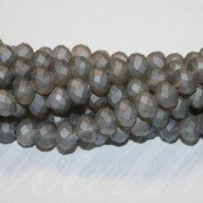 jssw0178gel-ron-04x6 apie 4 x 6 mm, rondelės forma, matinė, pilka spalva, apie 100 vnt.