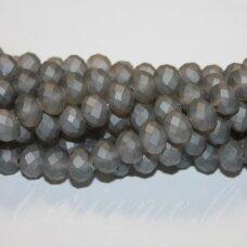jssw0178gel-ron-06x8 apie 6 x 8 mm, rondelės forma, matinė, pilka spalva, apie 72 vnt.