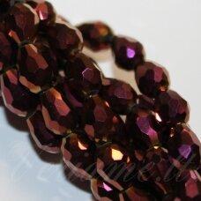 jssw0191-las-04.5x3.5 apie 4.5 x 3.5 mm, lašo forma, briaunuotas, violetinė spalva, stikliniai / kristalo karoliukai, apie 100 vnt.