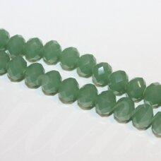 jssw0071gel-ron-06x8 apie 6 x 8 mm, rondelės forma, samaninė spalva, apie 72 vnt.