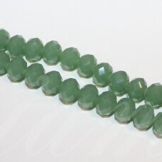 jssw0071gel-ron-04x6 apie 4 x 6 mm, rondelės forma, samaninė spalva, apie 100 vnt.