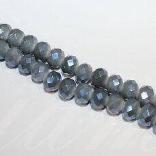 jssw0094gel-ron-02x3 apie 2 x 3 mm, rondelės forma, melsvai pilka spalva, apie 200 vnt.