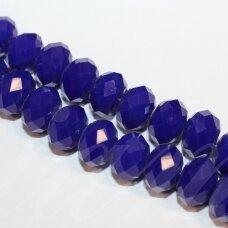 jssw0069gel-ron-04x6 apie 4 x 6 mm, rondelės forma, tamsi, mėlyna spalva, apie 100 vnt.