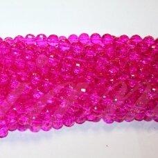 jssw0035gel-apv-08 apie 8 mm, apvali forma, briaunuotas, skaidrus, rožinė spalva, apie 72 vnt.