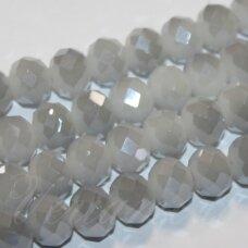 jssw0491-ron-09x12 apie 9 x 12 mm, rondelės forma, pilka spalva, sidabrinė danga, apie 72 vnt.