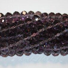 jssw0492-ron-09x12 apie 9x12 mm, rondelės forma, briaunuotas, šviesi, violetinė spalva, apie 70 vnt.