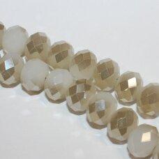 jssw0061gel-ron-06x8 apie 6 x 8 mm, rondelės forma, pilka spalva, sidabrinė danga, apie 72 vnt.
