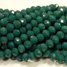 jssw0501-ron-08x10 apie 8 x 10 mm, rondelės forma, melsvai žalia spalva, apie 72 vnt.