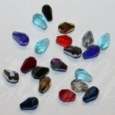 JSSWMIX-LAS-06x4 apie 6 x 4 mm, lašo forma, įvairių spalvų miksas, apie 100 vnt.