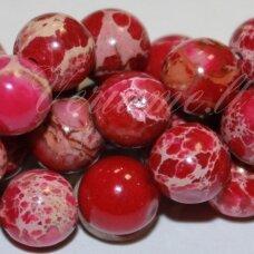 jsvar1-apv-10 apie 10 mm, apvali forma, raudona spalva, variscitas, apie 38 vnt.