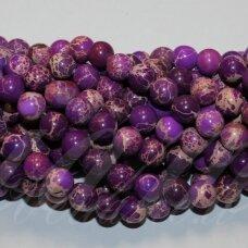 jsvar10-apv-06 apie 6 mm, apvali forma, marga, violetinė spalva, variscitas, apie 62 vnt.