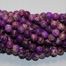 jsvar10-apv-08 apie 8 mm, apvali forma, marga, violetinė spalva, variscitas, apie 48 vnt.