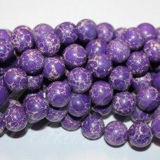JSVAR11-APV-10 apie 10 mm, apvali forma, margas, violetinė spalva, variscitas, apie 38 vnt.