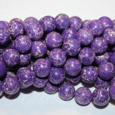jsvar11-apv-12 apie 12 mm, apvali forma, marga, violetinė spalva, variscitas, apie 32 vnt.