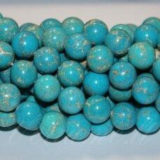 jsvar12-apv-12 apie 12 mm, apvali forma, žydra spalva, variscitas, apie 32 vnt.