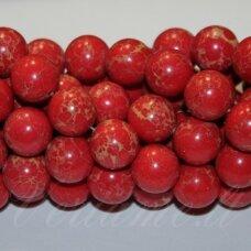 jsvar13-apv-06 apie 6 mm, apvali forma, raudona spalva, variscitas, apie 62 vnt.