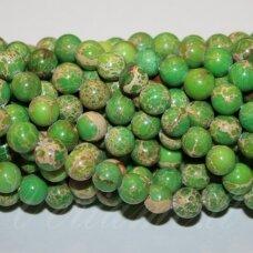 jsvar15-apv-06 apie 6 mm, apvali forma, žalia spalva, variscitas, apie 62 vnt.