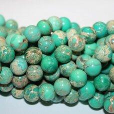 jsvar2-apv-12 apie 12 mm, apvali forma, žalia spalva, variscitas, apie 32 vnt.