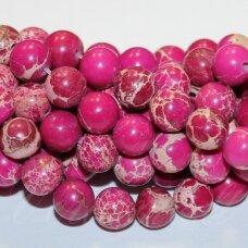 jsvar20-apv-06 apie 6 mm, apvali forma, ryški, rožinė spalva, variscitas, apie 64 vnt.