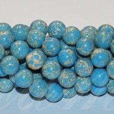 jsvar21-apv-12 apie 12 mm, apvali forma, mėlyna spalva, variscitas, apie 32 vnt.