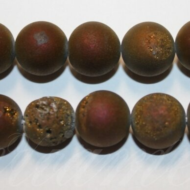 jsagdr0021-apv-20 apie 20 mm, apvali forma, marga, violetinė spalva, agatas (druzy), apie 20 vnt.