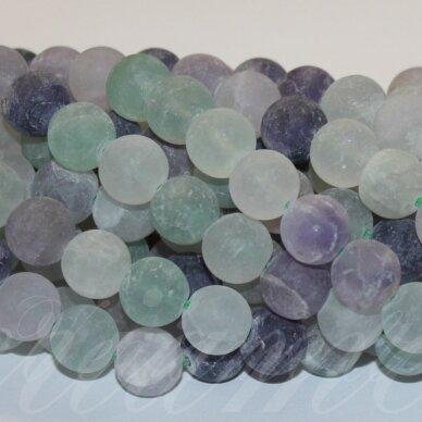 jsakfl-mat-apv-12 apie 12 mm, apvali forma, matinė, fluoritas, apie 32 vnt.