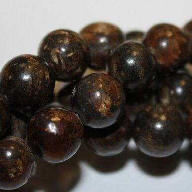 jsbronz-apv-06 apie 6 mm, apvali forma, bronzitas, apie 65 vnt.
