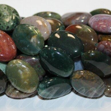 jskaa0005-oval-25x18x6.5 apie 25 x 18 x 6.5 mm, ovalo forma, marga spalva, agatas, 16 vnt.