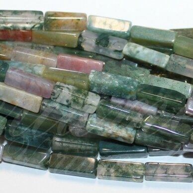 jskaa0005-stac-13x4x4 apie 13 x 4 x 4 mm, stačiakampio forma, marga spalva, agatas, apie 28 vnt.