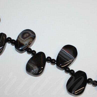 jskaa0014-las-nk-20x30x9 apie 20 x 30 x 9 mm, lašo forma, nuleisti kraštai, marga spalva, agatas, 16 vnt.