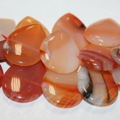 JSKAA0119-LAS2-30x20x5 apie 30 x 20 x 5 mm, lašo forma, marga spalva, agatas, apie 22 vnt.