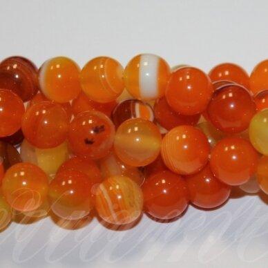 jskaa0173-apv-12 apie 12 mm, apvali forma, marga, oranžinė spalva, agatas, apie 32 vnt.