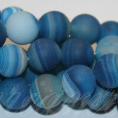 jskaa0315-apv-06 apie 6 mm, apvali forma, marga, matinė, mėlyna spalva, agatas, apie 63 vnt.