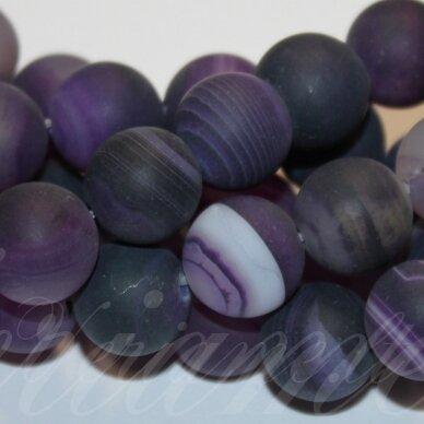 jskaa0321-apv-06 apie 6 mm, apvali forma, marga, matinė, violetinė spalva, agatas, apie 63 vnt.