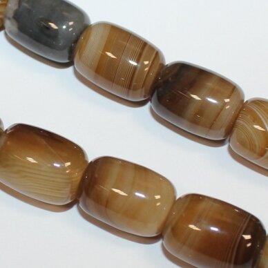 jskaa0500-cil2-18x13 apie 18 x 13 mm, cilindro forma, marga, rusva spalva, agatas, apie 22 vnt.