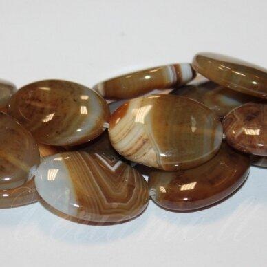 JSKAA0500-OVAL-25x18x7 apie 25 x 18 x 7 mm, ovalo forma, margas, rusva spalva, agatas, 16 vnt.